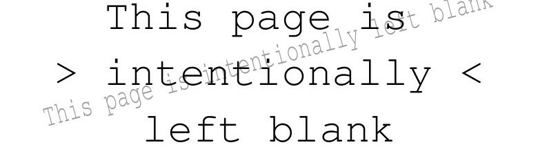 Schriftzug: This page is intentionally left blank.